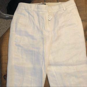 J Crew cropped linen pants